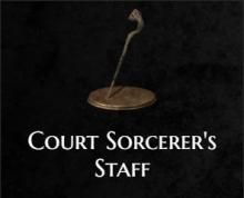 The court sorcerer's staff from Dark Souls 3