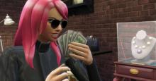 This Criminal Sim is enjoying the wonderful smell of none other than paper bills