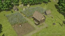 Small crop fields are manageable for a small farm with few workers.