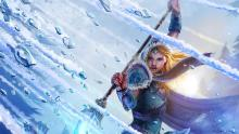 Crystal Maiden's ultimate ability freezes to death any hero foolish enough to come near.