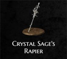 The crystal sage's rapier from Dark Souls 3
