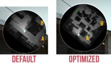Here is a side by side comparison of a default vs Optimized Radar.