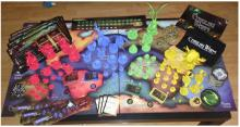 Cthulhu Wars game box contents.