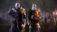 Solaire and his knight friend. Praise the sun!