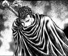 Guts is armed with a massive sword that can deal huge amounts of damage.