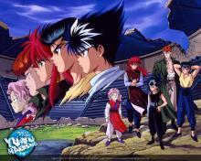Team Urameshi at the dark tournament
