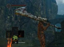 This weapon replaces your strong attack with a downward jumping attack.