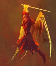 Art from the Dawnblade class menu