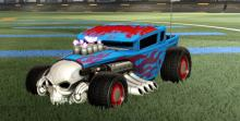 The Boneshaker car fitted with the 60's styled Rat Rod rims.