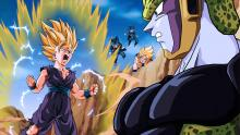 Gohan taking on Cell