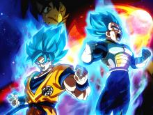 Goku and Vegeta reach god heights after transforming into super saiyan blue