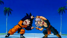 The concept of fusion is introduced, and its first practitioners are Buu Saga newcomers Kid Trunks and Goten.