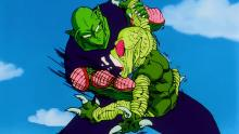 Piccolo punches Saibamen
