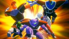 The Ginyu force striking a pose