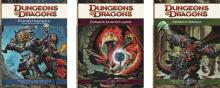 The three core rulebooks for 4th edition D&D