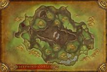 Overhead map of Deepwind Gorge