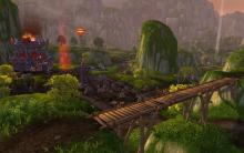 Scenic view of the Horde side of Deepwind Gorge