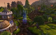 Scenic view of the Alliance side of Deepwind Gorge