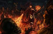 Fiery Arcane blast from a Wizard