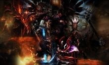 Diablo and the Skeleton King with the Heroes of Diablo 3