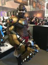 That must be one heavy fist but a great cosplay nonetheless!