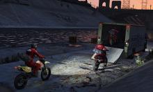 The clean dirt bike getaway