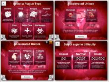 There are many different diseases as well as ways to unlock them and levels to play them at.