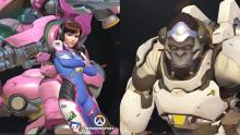 D.va and Winston from overwatch