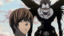 Light and his shinigami, Ryuk