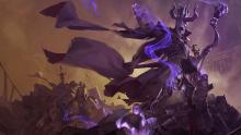 A fearsome necromancer raises a horde of undead.
