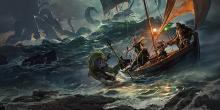 An adventuring group fends for themselves on turbulent waters.