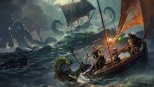 A party battles a Kraken.