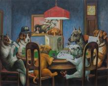 Dogs playing Dungeons and Dragons