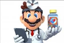Doc defeats viruses with the help of his multivitamins