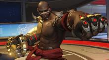 Doomfist getting ready to punch in his highlight intro