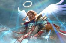 What's he doing here? Well, he's going to Skywrath heaven of course! This angel of a hero.