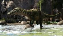 Baryonyx is always looking for anything moving in its territory, so don't get too close until you're ready
