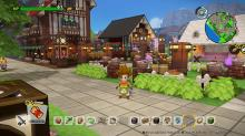 An amazing town built in Dragon Quest Builders 2