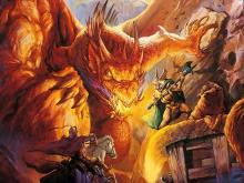 A dragon defending itself from professional monster slayers