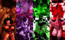 Assorted Dragon Ball Z villains, the most powerful baddies around.