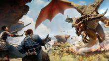 Cassandra and Varric face off against a dragon. Be sure to prepare for these fights or you will struggle greatly, as they appear to be.