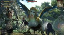 Fight with your pawns against monstrous creatures such as this Sphinx