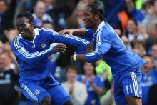 Two of Africa's and Chelsea's icons celebrating.