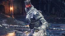 Champion Gundyr with his glowing red eyes.