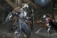 Dark Souls III pits players against powerful enemies.