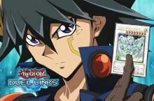 Artwork of Yusei Fudo with his ace card, Stardust Dragon!