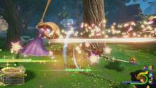 With the help of Rapunzel, Sora can now fight Heartless with ease