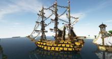 Explore the high seas on this Minecraft galleon build