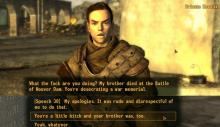 While Fallout 4 had some great options, New Vegas sets the bar for snappy one-liners.