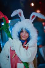 Easter bunny Fizz makes a great costume, as seen here thanks to one creative cosplayer